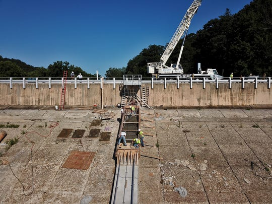 York Water Company is nearing completion on phase 1 of the Lake Williams dam construction project, Wednesday, June 26, 2019. 