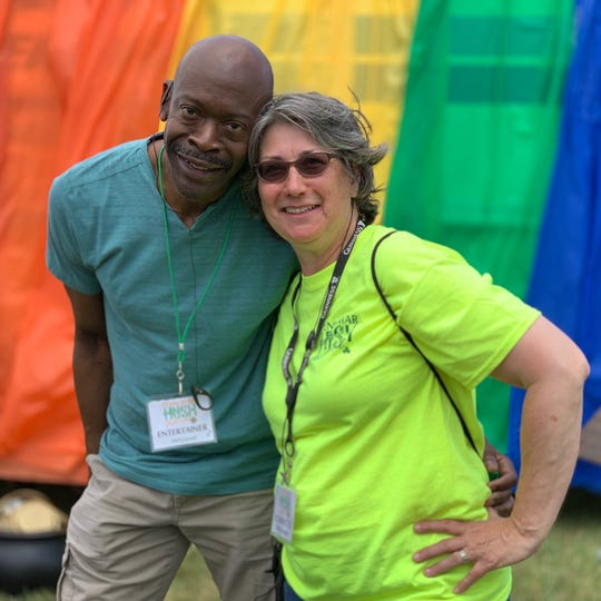Mel Conrad, left, and Mary Yeaple posed for a photo at the Penn-Mar Irish Festival on June 15 in Shrewsbury Township. Conrad died unexpectedly earlier this week.