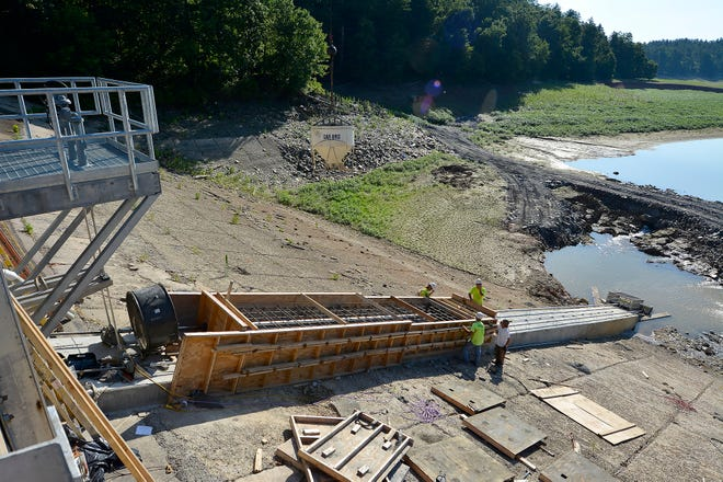 York Water Company is nearing completion on phase 1 of the Lake Williams dam construction project, Wednesday, June 26, 2019. John A. Pavoncello photo