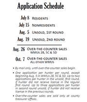The current schedule and parameters for applying for antlerless licenses in Pennsylvania.