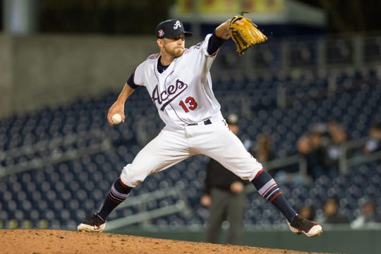 Reno Aces relief pitcher Jimmie Sherfy