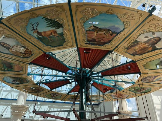 By mid-afternoon Wednesday, most of the carousel in the old Medley Centre had been taken apart.