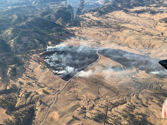 The Trinity Fire near Ono burned 90 acres and was contained as of Wednesday morning, June 26, 2019.