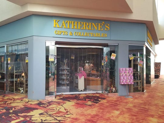 Katherine's Gifts & Collectibles inside the Sunset Mall, 4001 Sunset Drive, had several closing sale signs on June 25, 2019.