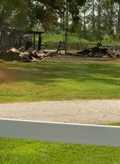 The famous Beebe Ranch, home of Misty of Chincoteague, burned Tuesday, June 25, 2019.  The call came in at 10:41 p.m., according to Chincoteague Volunteer Fire Company spokeswoman Denise Bowden.  Additionally, there were exposure problems with two homes on the north side of the barn, both of which suffered some exterior damage, she said.