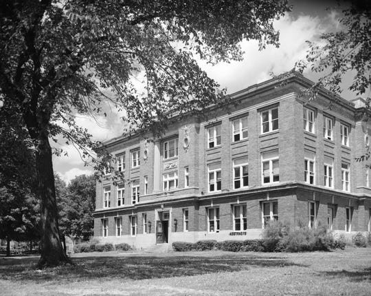 This photo of the Christian County (Mo.) courthouse was taken in 1950.