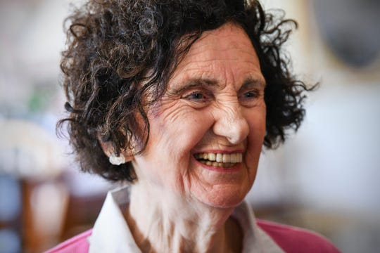 Bernadette Stein smiles while talking about her experiences during her more than 17 years of volunteering at Place of Hope Ministries during an interview Tuesday, June 25, 2019, in St. Cloud.