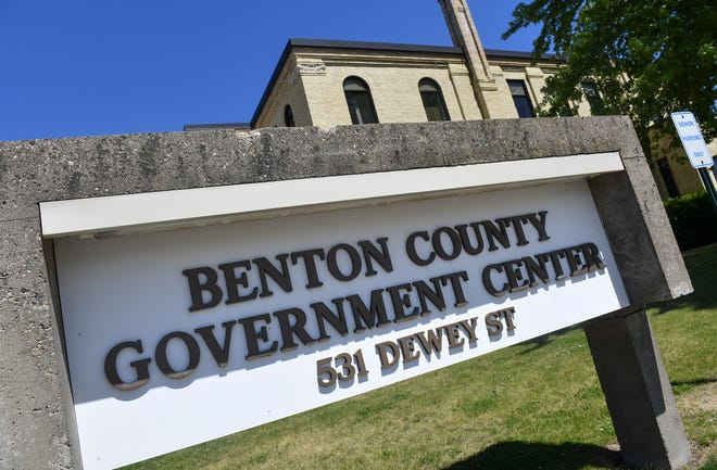 The Benton County government center is pictured Wednesday, June 26, 2019, in Foley.