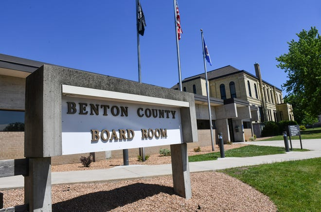 The Benton County board room and government center is pictured Wednesday, June 26, 2019, in Foley.