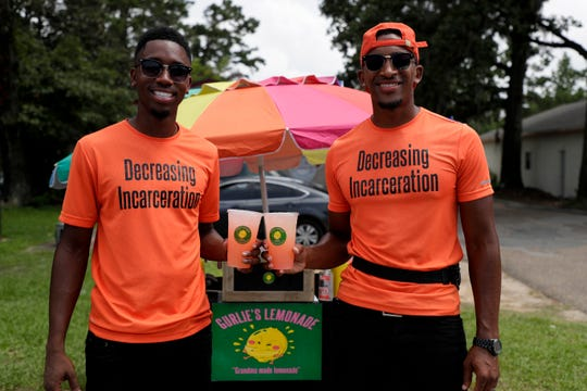 Marquis Williams and Demetrius Murray co-own Gurlie's Lemonade and sell $3 cups of Williams' grandma's special lemonade recipe at the corner of Tharpe Street and Old Bainbridge Road.