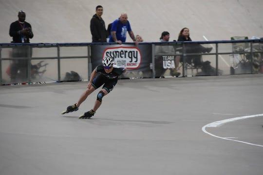 James Sadler first started inline speed skating at age 12.