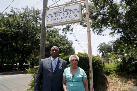 Darrell Lawrence and Linn Griffin are the co-owners of Strong and Jones Funeral Home.