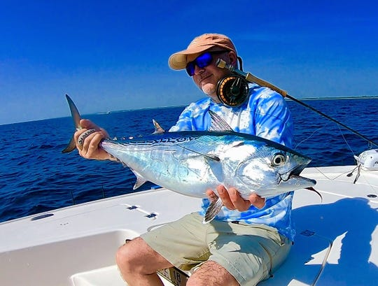 There is a bonito attack offshore, which was fine for angler Achim Stahl of Germany who fished a fly with Capt. Michael Mauri of Stuart.