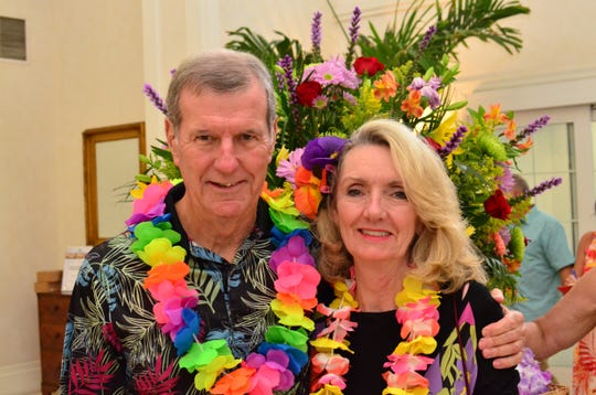 Gene and Pam O'Donnell at TheYouth Guidance42nd annual Tropical Night Luau at Oak Harbor.