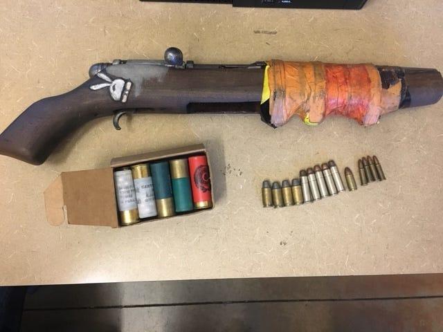 A sawed-off shot gun was found in Gustavo Adoldo Ramirez's vehicle on Tuesday, June 25, 2019.