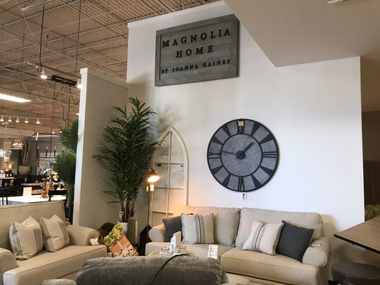 The new HOM Furniture store in the Wausau Center mall sells the Magnolia Homes brand made by famous designer Joanna Gaines of HGTV's Fixer Upper.