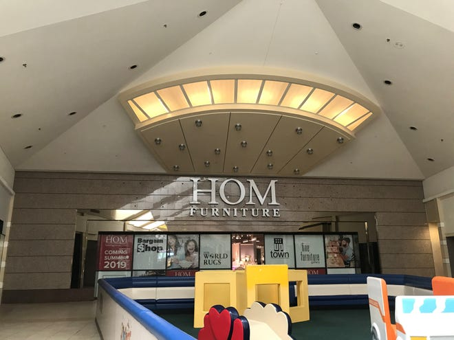 The new HOM Furniture store in the Wausau Center mall is opening June 28, 2019 in the former Younkers department store site.