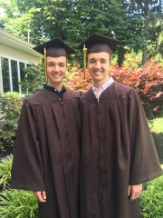 James and Michael Davis, who are among seven sets of twins who recently graduated from Clarkstown South High School.