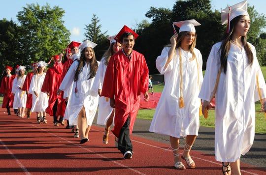 Tappan Zee High School holds their graduation ceremony in Orangeburg on Wednesday, June 26, 2019.