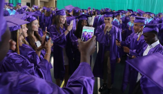 Clarkstown North High School graduation at Rockland Community College in Suffern June 25, 2019.