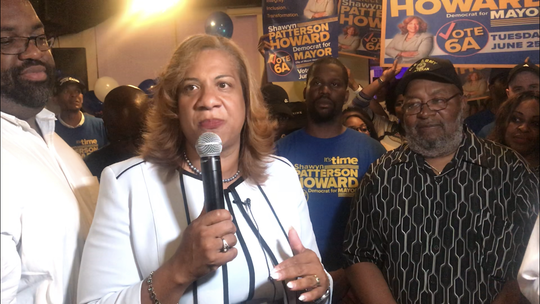 Shawyn Patterson-Howard on primary night June 25, 2019. She was leading incumbent Richard Thomas by 204 votes in the Democratic primary for mayor
