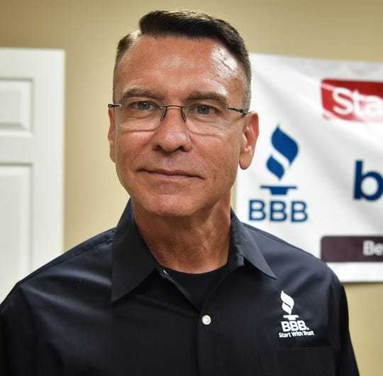 Jay Newman, CEO of the Better Business Bureau of North Central Texas, based in Dallas. The Wichita Falls BBB office is under their 29-county umbrella. Newman was in Wichita Falls Wednesday for a meet and greet.