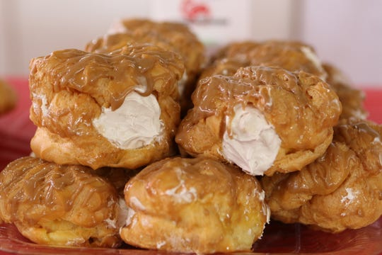 Maple syrup cream puffs are one of three new flavors of cream puffs debuting at the Jefferson County Farm Technology Days on July 23-25, 2019.