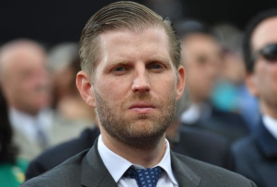 Eric Trump  attends a French-U.S. ceremony at the Normandy American Cemetery and Memorial in Colleville-sur-Mer, Normandy, northwestern France, on June 6, 2019.