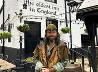 Ezekiel Bone (not his real name) leads tours as Robin Hood, a character playing a character to great effect. Robin Hood appears in song and written word across centuries, changing as times changed. He appeared, Bone says, when the oppressed most needed a hero. A passionate historian, Bone weaves truth and fantasy throughout his walking tour of Nottingham.