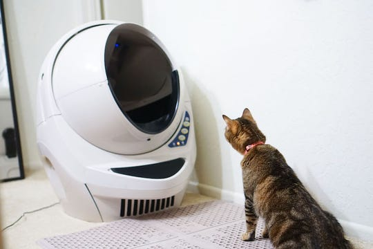 The Litter Robot 3 senses when your feline friend has done their business, then sifts out the waste for easy disposal.