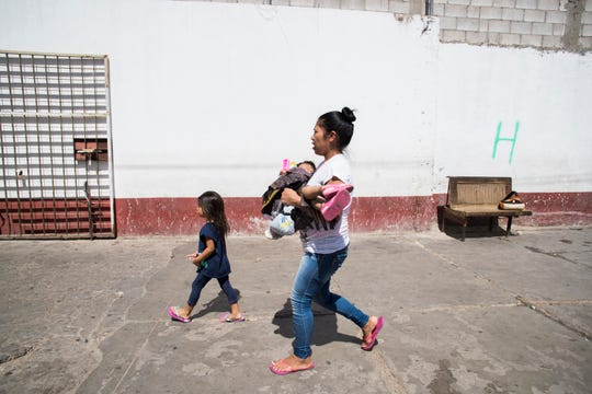 Alba Macario of Guatemala claims her 2-year-old child, Suriana, nearly died while they were in detention at a processing facility in Calexico, California.