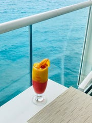Maho Vice is a fruity refresher with mangos, strawberries and rum.