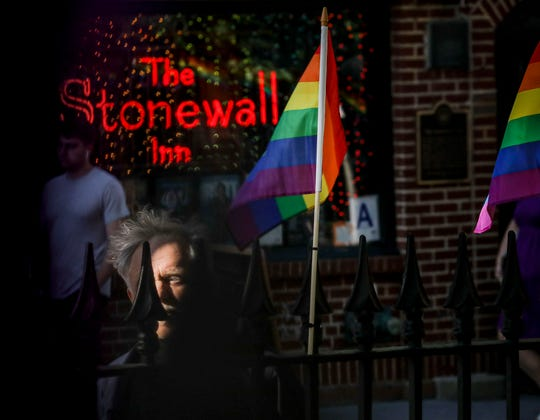Gay rights activist Jim Fouratt on June 3, 2019, at The Stonewall Inn in New York, where he witnessed an arrest 50 years ago.