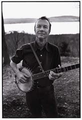 Pete Seeger with his banjo at his home in upstate New York.