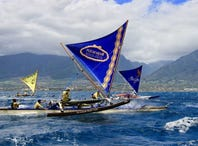 The materials used to build sailing canoes have changed dramatically over the years, but designs have remained similar, with a nod toward making vessels faster by constructing longer, sleeker boats. Sailing in 'Aukai O Maui, the Kā'anapali Beach Hotel team hit 16 miles per hour during the 2019 Wa'a Kiakahi festival race to Kā'anapali Beach Resort. Its fastest speed on record is 20 miles per hour.