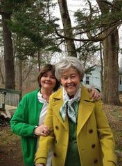 Judy (left) with her mother, Lorraine Warren. Lorraine died in April.