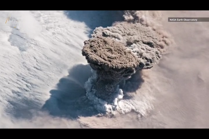 Volcano puts on spectacular show after lying dormant for 95 years