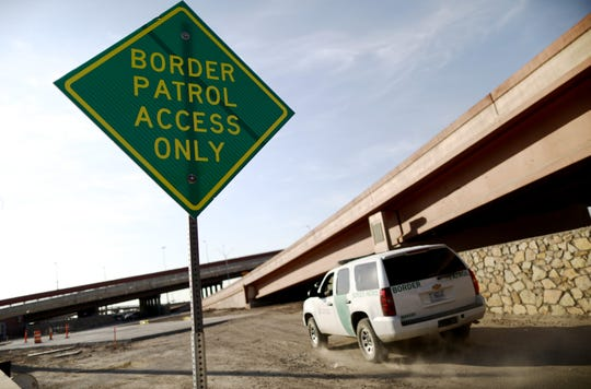 A U.S. Border Patrol vehicle passes a 'Border Patrol Access Only' sign near the U.S.-Mexico border on June 26, 2019 in El Paso, Texas. Acting commissioner of U.S. Customs and Border Protection (CBP) John Sanders submitted his resignation in the wake of a scandal after lawyers reported that detained migrant children were held unbathed and hungry in a U.S. Border Patrol facility in nearby Clint, Texas.