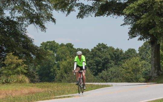 Jake Hollingsworth prepares for bike ride more than 400 miles across South Carolina to benefit homeless students in Anderson District 5 schools.