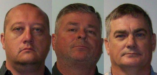 (From left) David Wayne Billings, Matthew RonaldDavis and Jonathan PatrickTreadway Sr.