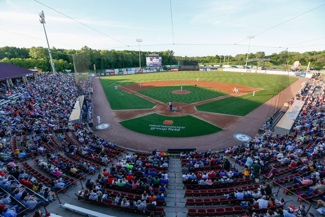 Fox Cities Stadium may soon be a record-setting venue as far as air guitar ensembles is concerned.