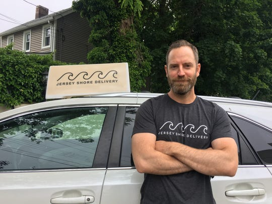 Mike Davis is the founder of Jersey Shore Delivery, which delivers food from a dozen Monmouth County restaurants to homes, offices, beach clubs and marinas.