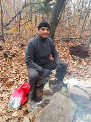 Ronald S. Sanchez Jr., 43, of Oklahoma City, seen here hiking in November 2018 on the Ozark Highlands Trail in Arkansas, was stabbed to death in Virginia while on a thru-hike of the Appalachian Trail in May.