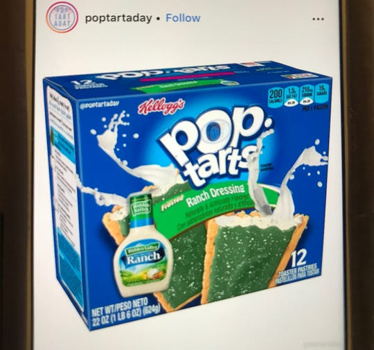 Ranch dressing-flavored Pop Tarts are the creation of an Instagram account called PopTartADay.