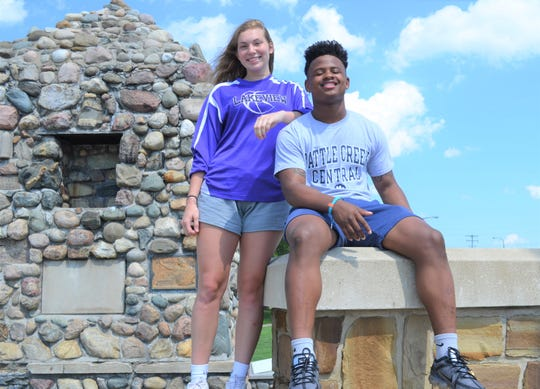 Lakeview's Karlie Kucharczyk and Battle Creek Central's Josh Mann are the Battle Creek Enquirer Athletes of the  Year for 2019.