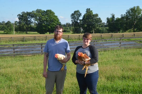 Robert and Nicole Goetz own a farm in rural Marshall and have faced the struggle of rainfall this year.