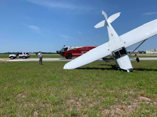 A small aircraft had a hard landing on aSpace Coast Regional Airport runway in Titusville June 26, 2019.