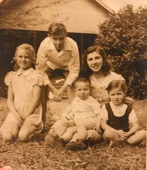 The first generation, shown here as children in Leroy, Alabama, started our family reunion tradition 18 years ago. From left are Ann Palmer Tidwell, Joe Pace Palmer, Hugh Palmer, Mary Palmer Fleming and Linda Palmer Shaw.