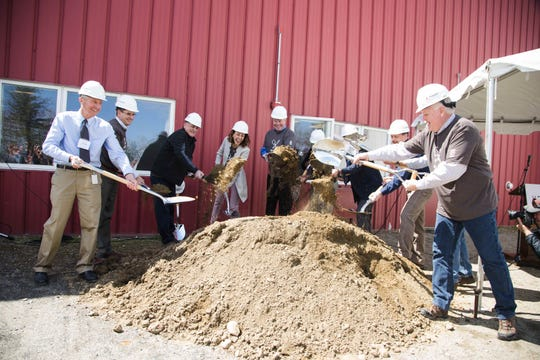 Groundbreaking in May 2019 for the expansion of Vermont Creamery following its acquisition by Land O'Lakes in 2017.
