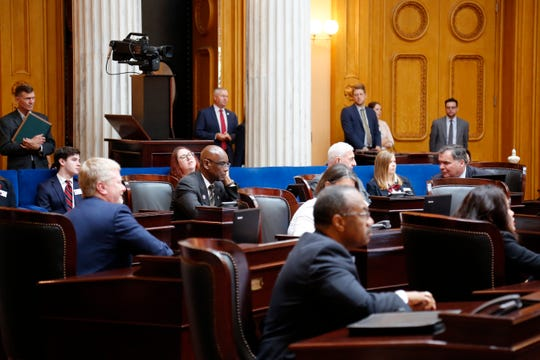 The Ohio Senate holds session in the Ohio Senate chamber at the Ohio Statehouse in downtown Columbus, Ohio, on Wednesday, June 26, 2019.